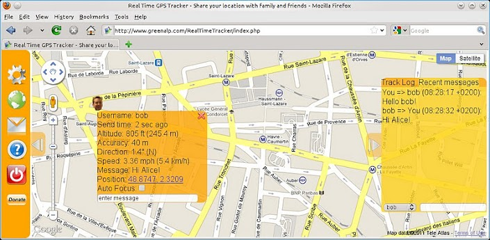 Gps tracking android