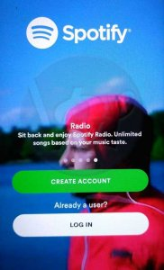 spotify home screen 182x300 - Spotify Premium APK Download for Android