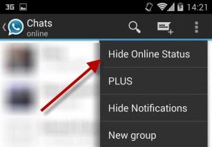 hide online status