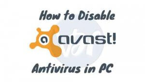 {2 Methods} How To Turn Off / Disable Avast Antivirus
