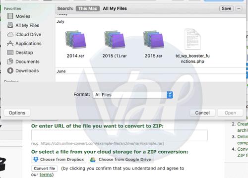 select the RAR file