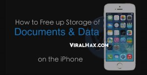 how to clear facebook documents and data on iphone