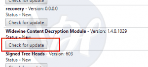 Widevine Content Decryption Module Missing - Solved