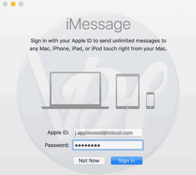 set up iMessage on your mac
