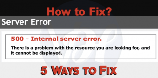 Solve-HTTP-500-Internal-Server-Error