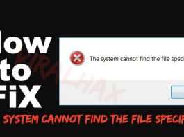 fix the System cannot Find the File Specified