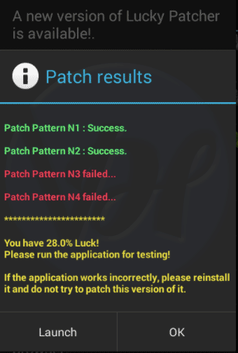 patch result