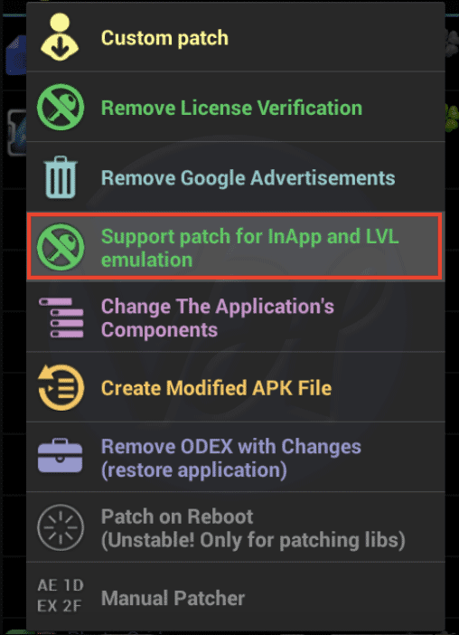 Patch for InApp