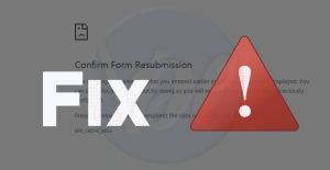 How to Fix The Confirm Form Resubmission Error