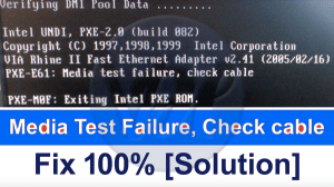 How to Fix The Media Test Failure Check Cable Error?