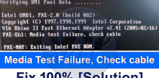 Media-Test-Failure-Check-Cable