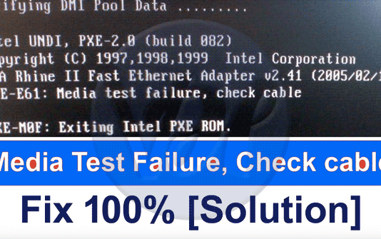Media-Test-Failure-Check-Cable