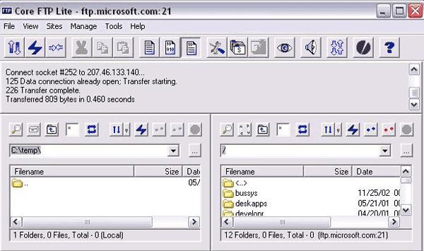 Core FTP Server