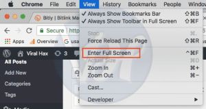 How to Enable Full Screen Google Chrome
