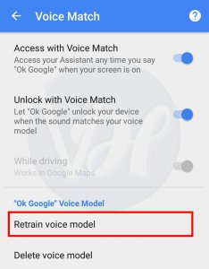 Retrain voice model