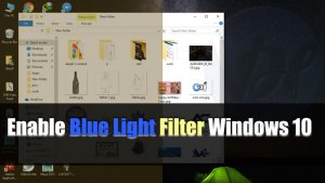 How to Enable Blue Light Filter Windows 10