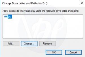 Change Drive Letter