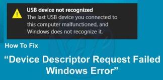 fix-Device-Descriptor-Request-Failed-Windows-Error