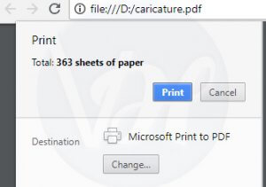 change destination of pdf file