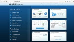 Linksys web interface