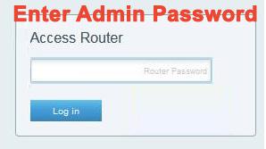 Enter Router or Admin password