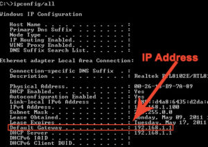 Find Router's IP Address with cmd