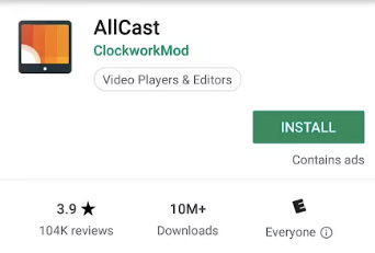 AllCast on PlayStore