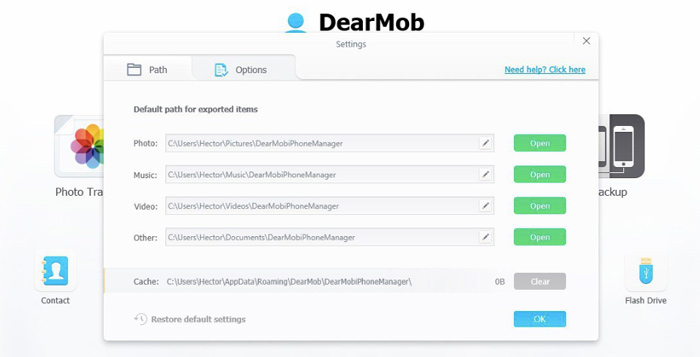 Export files with DearMob