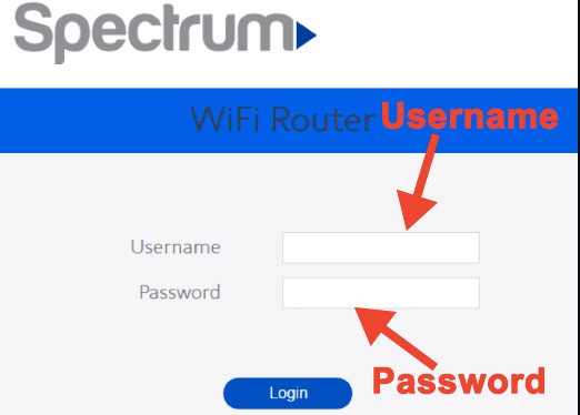Enter Spectrum Login Username and Password
