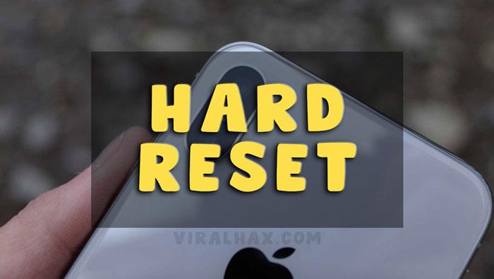 Hard Reset iPhone X