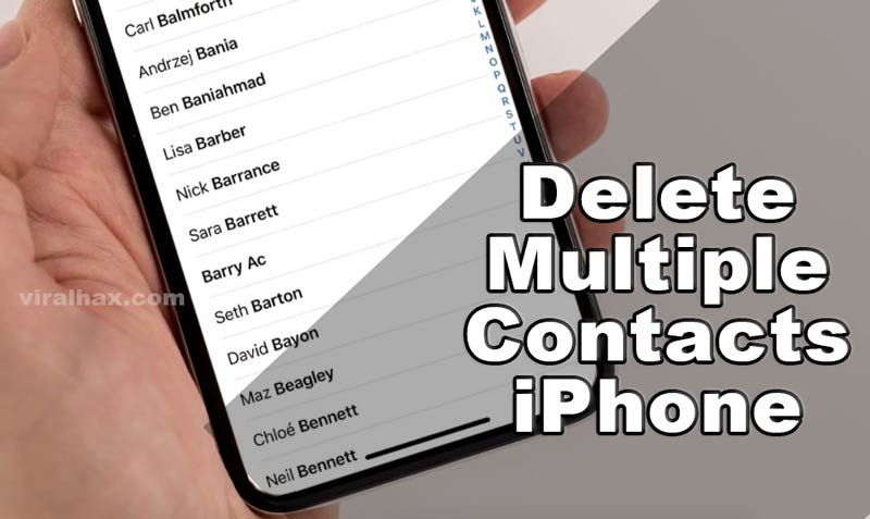 delete multiple contacts iphone
