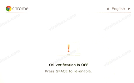 Chromebook OS Verification is Off