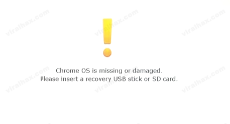 Recovery Screen of Chromebook
