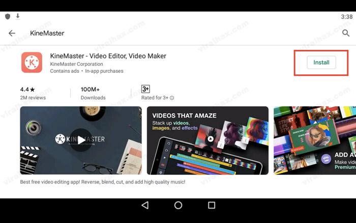 Install KineMaster App on PC