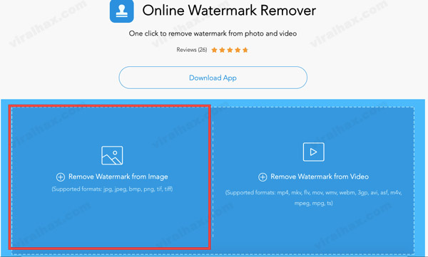 Remove Watermark from Image option in Apowersoft
