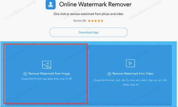 إزالة علامة مائية من خيار الصورة في Apowersoft