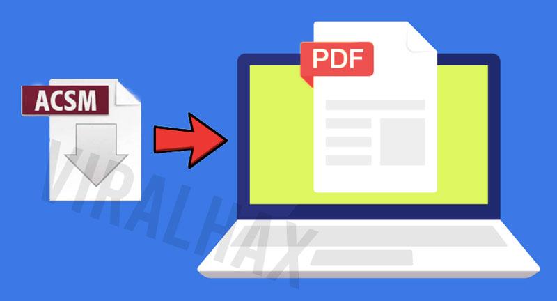 acsm to pdf