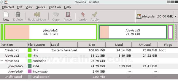GNOME Partition Editor
