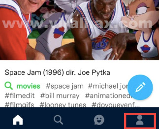account icon on tumblr app android