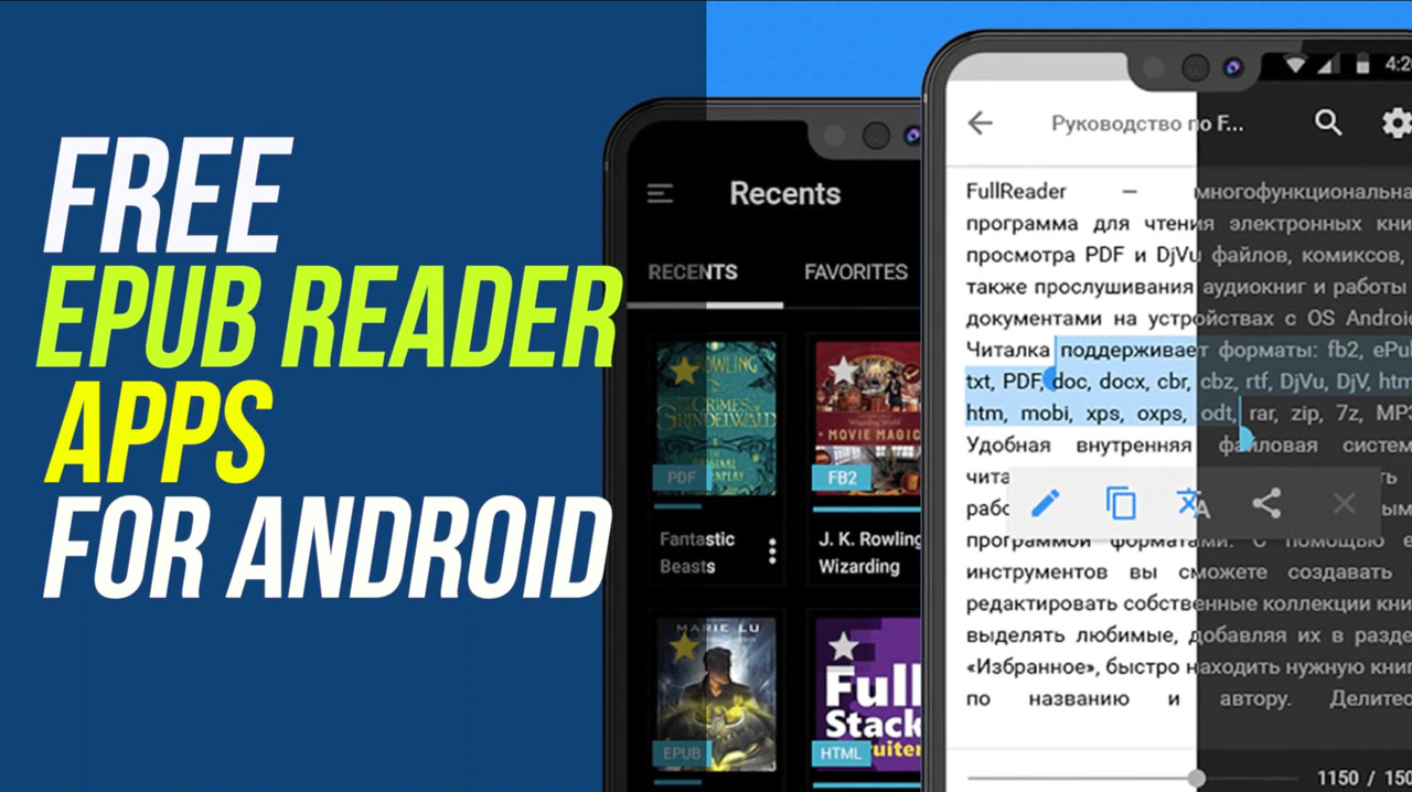5 Best Free EPUB Reader Apps For Android of 2021